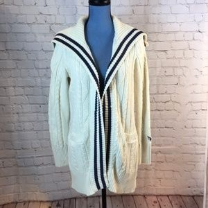 Vintage Tommy Hilfiger Cable Knit Sailor Cardigan